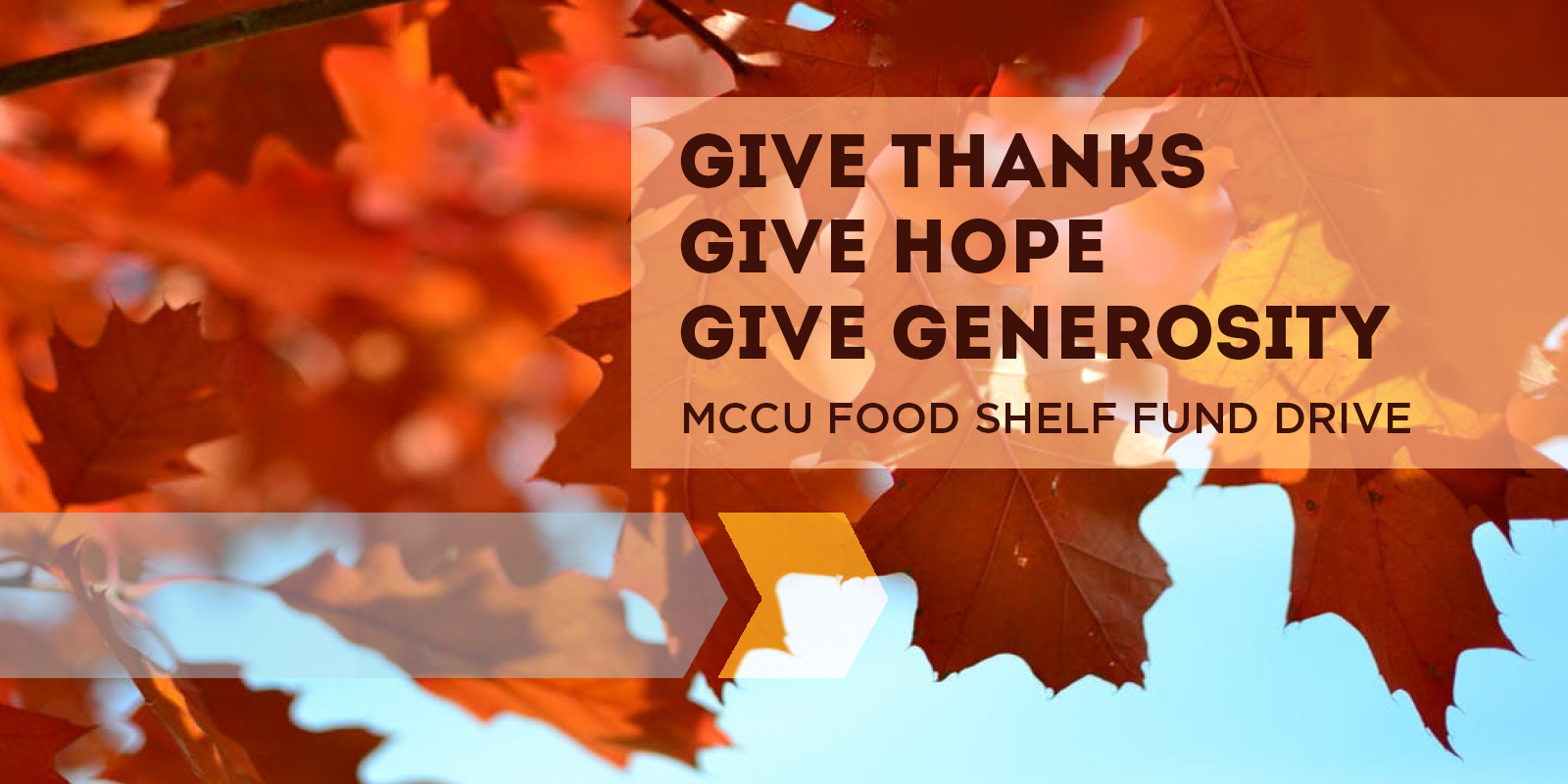 MCCU Food Shelf Fund Drive