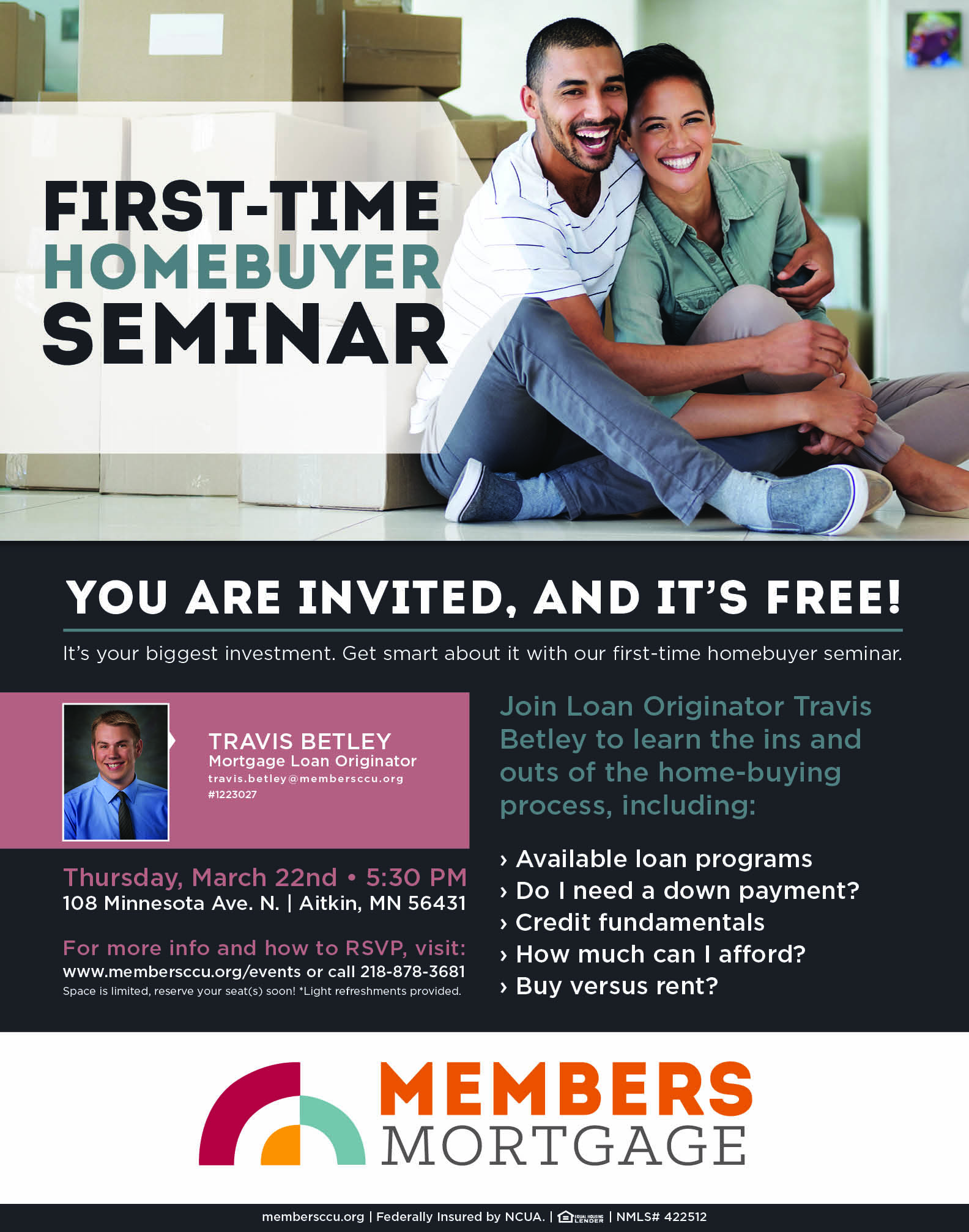 First Time Home Buyer Seminar Members Cooperative Credit Union