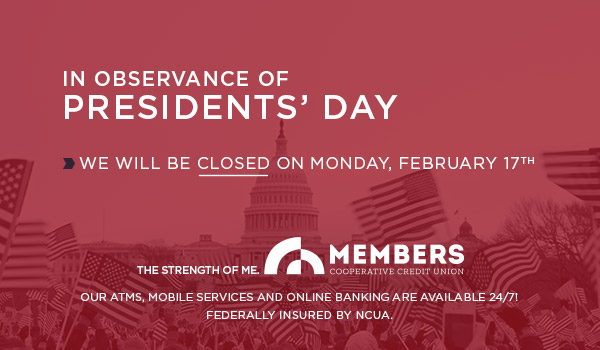 Presidents' Day - Closed